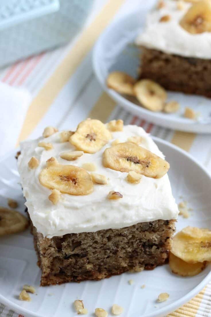 Best Banana Walnut Cake