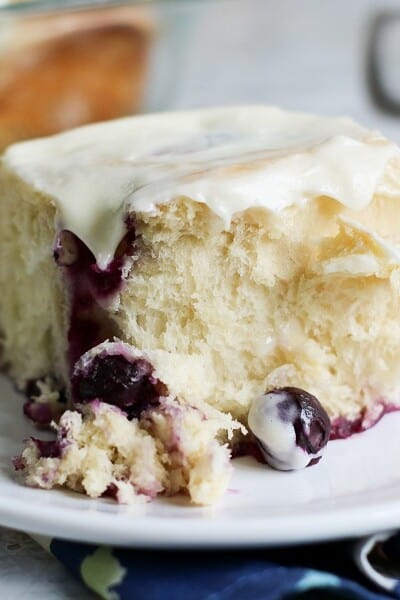 Best Blueberry Sweet Rolls