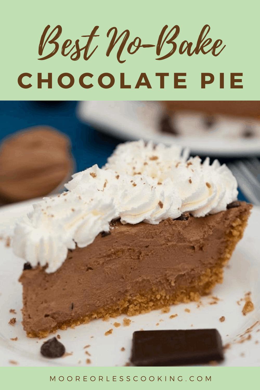 Best No-Bake Chocolate Pie
