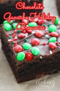 Chocolate Ganache Holiday Brownies