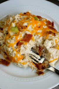 Slow Cooker Ranch and Cream Cheese Chicken Shared Process-10