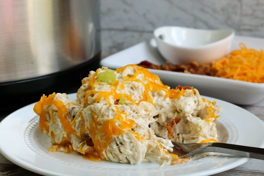 Slow Cooker Ranch and Cream Cheese Chicken Shared Process-7
