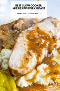 The Best Slow Cooker Mississippi Pork Roast