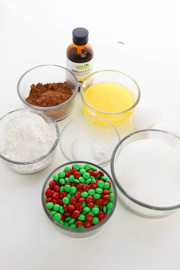 christmas brownies ingredients