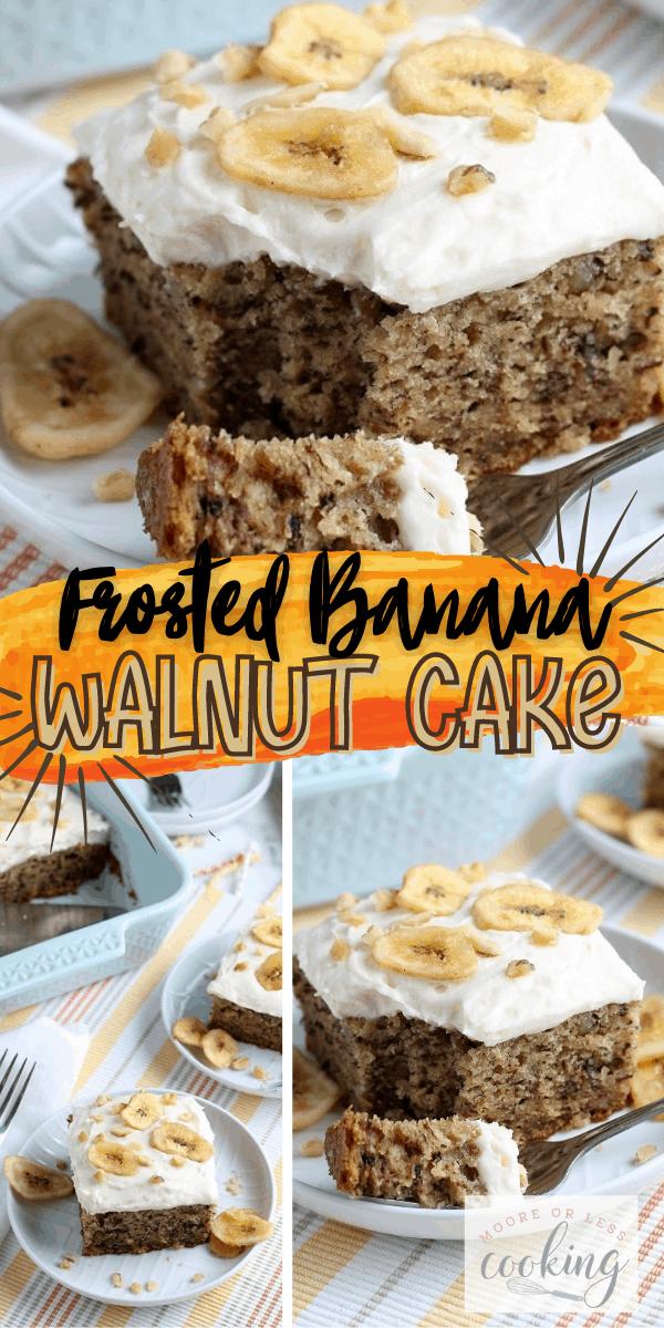 Frosted Banana Walnut Cake