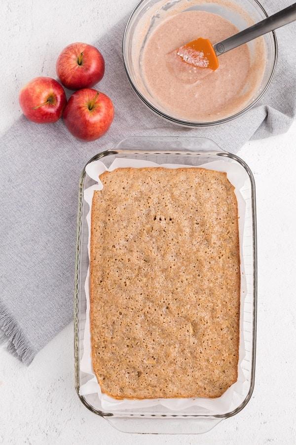 Apple Blondies with CInnamon Sugar Glaze