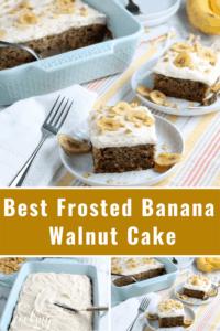 Best Frosted Banana Walnut Cake