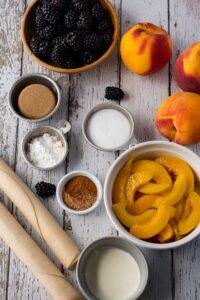 Ingredients Blackberry Peach Pie