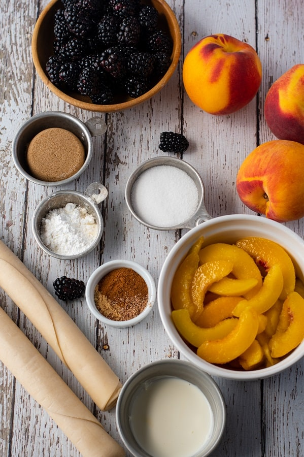 Ingredients Blackberry Peach Pie