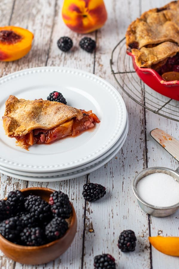 Blackberry Peach Pie10