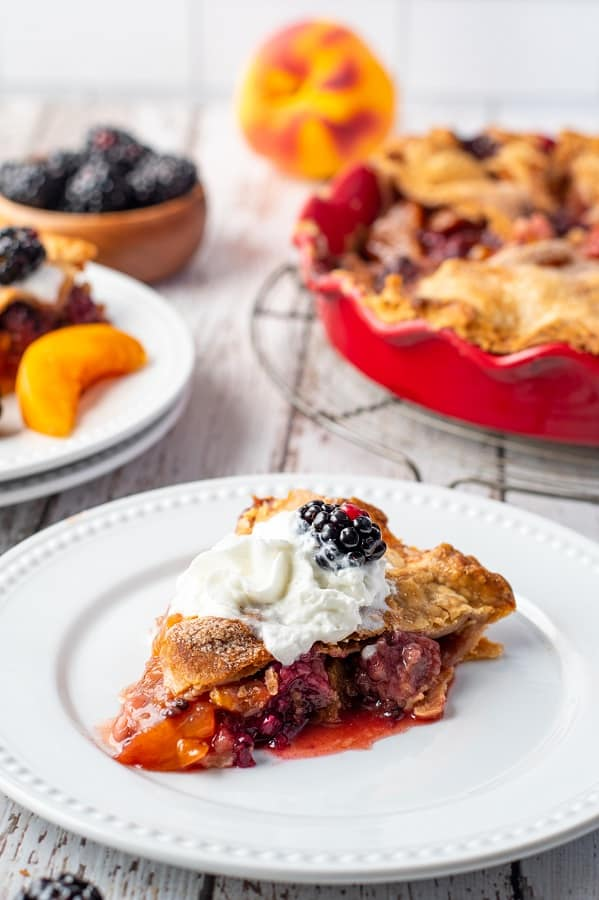Blackberry Peach Pie15