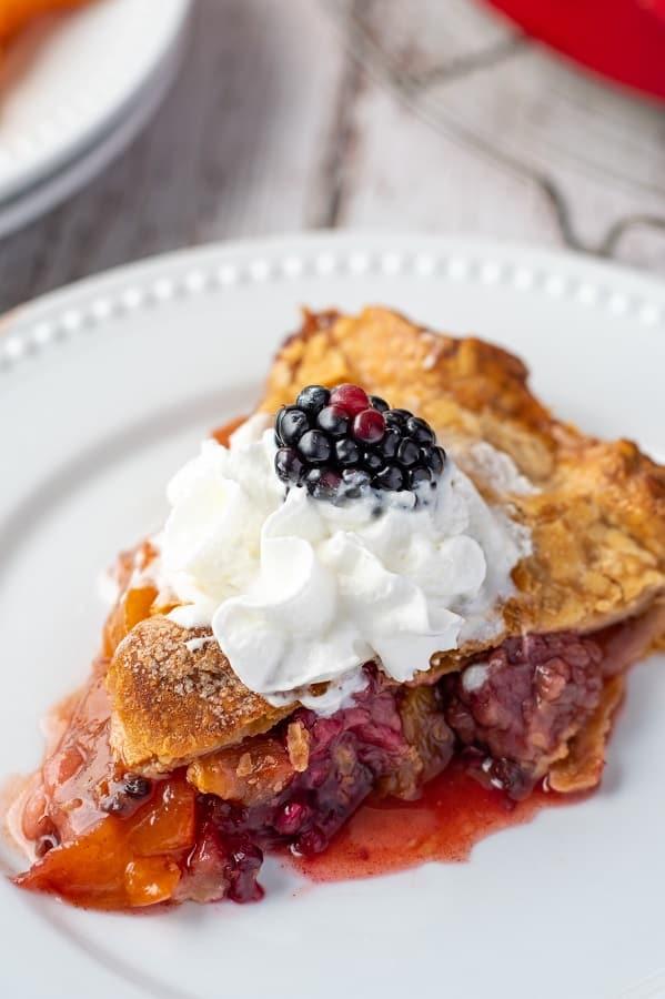 Blackberry Peach Pie16