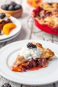 Blackberry Peach Pie17