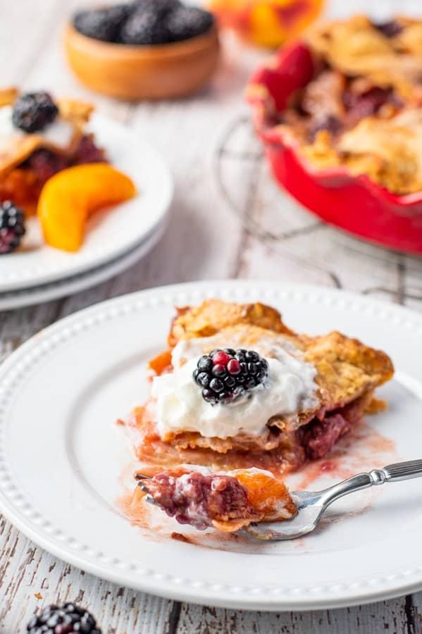 Blackberry Peach Pie18