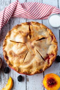 Blackberry Peach Pie6
