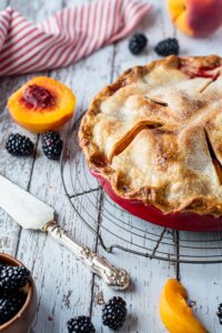 Blackberry Peach Pie7