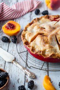 Blackberry Peach Pie7
