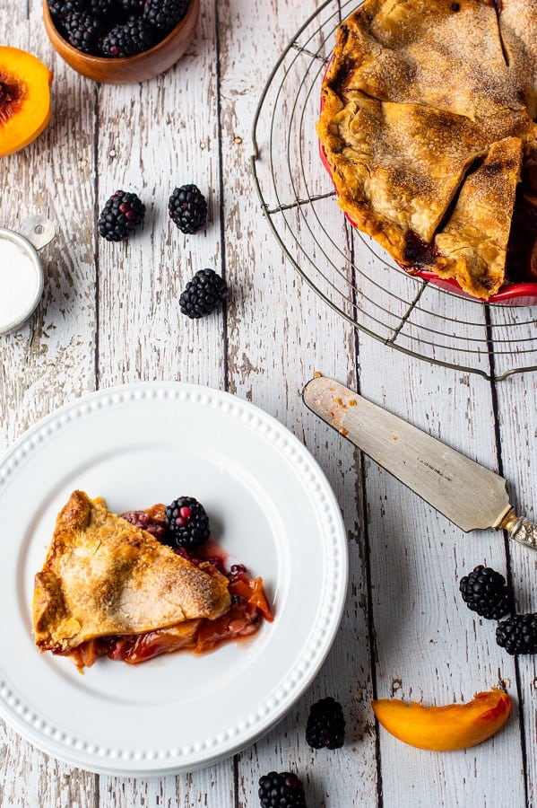 Blackberry Peach Pie8