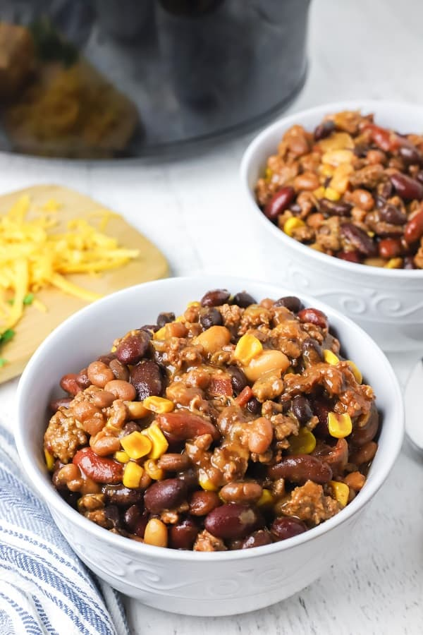Sweet and Smoky Crockpot Chili