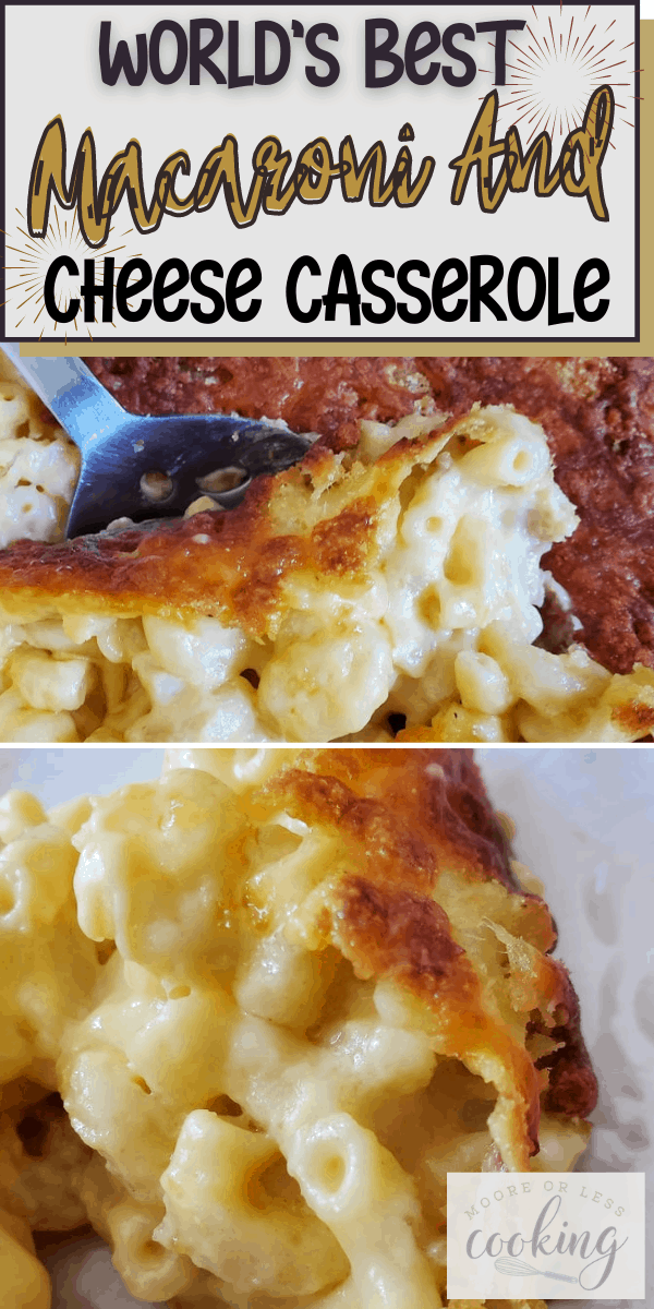 Enjoy a cheesy, delectable recipe that you can serve as a side dish or main entree for the family. The Best Macaroni and Cheese Casserole contains assorted cheeses, breadcrumbs, and additional ingredients to create the perfect creamy texture with a bubbly, crisp topping. It is a family favorite that everyone can enjoy. via @Mooreorlesscook