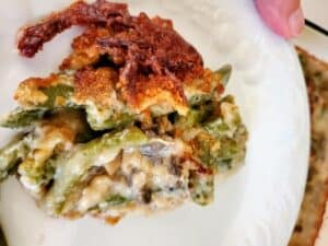 Holiday Green Bean Cheddar Casserole