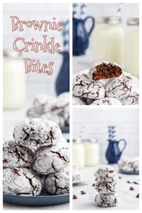 Brownie Crinkle Bites