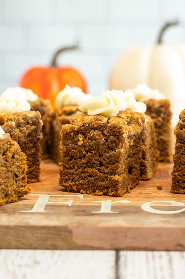 Pumpkin Blondies