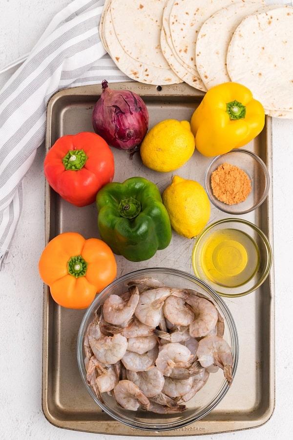 Sheet Pan Shrimp Fajitas