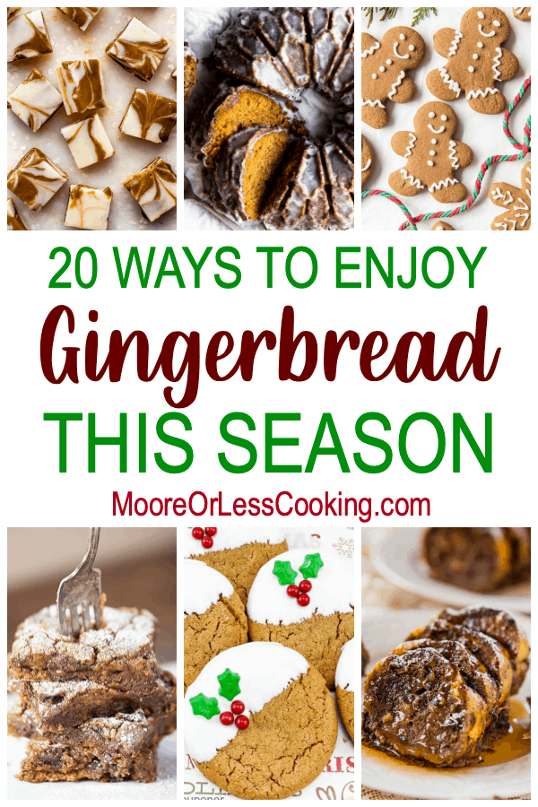 The holidays are that special time of year where it's perfectly acceptable to indulge in all things gingerbread. Molasses, ginger, cinnamon, nutmeg, and cloves are the classic spices and flavors that you'll find in gingerbread treats. From cookies to cakes and from smoothies to ice cream, there's always a way to incorporate the warming spices, scents, and tastes of gingerbread. via @Mooreorlesscook