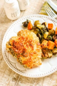 Crispy Cheddar Pork Chops Sheetpan Dinner Sample 4-2