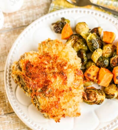 Crispy Cheddar Pork Chops Sheetpan Dinner Sample 4-7