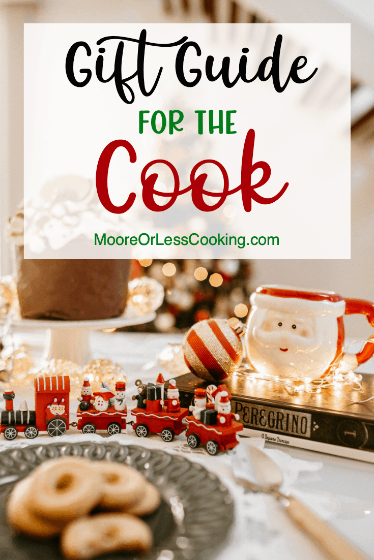 If there's a foodie or home chef on your gift list, you'll want to keep this Gift Guide For The Cook handy. You'll find awesome ideas for cooks who love efficient appliances as well as the latest gadgets that make cooking a more enjoyable adventure. via @Mooreorlesscook
