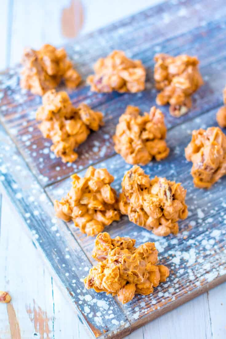 Slow Cooker Butterscotch Nut Clusters