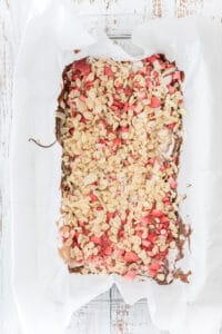 second layer Valentine's Crispy Strawberry Chocolate Bark