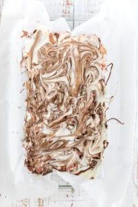 chocolate swirled