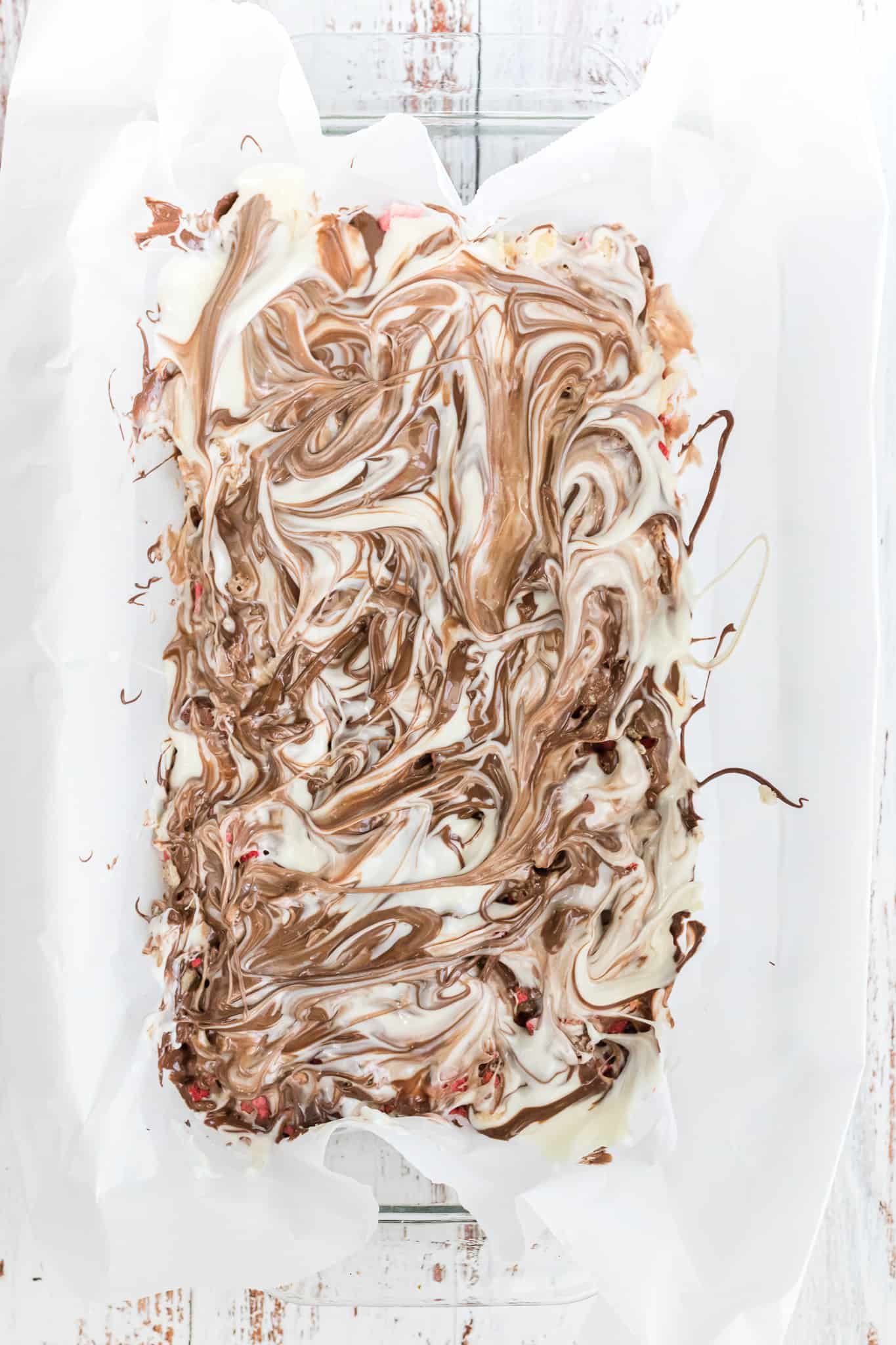 chocolate swirled