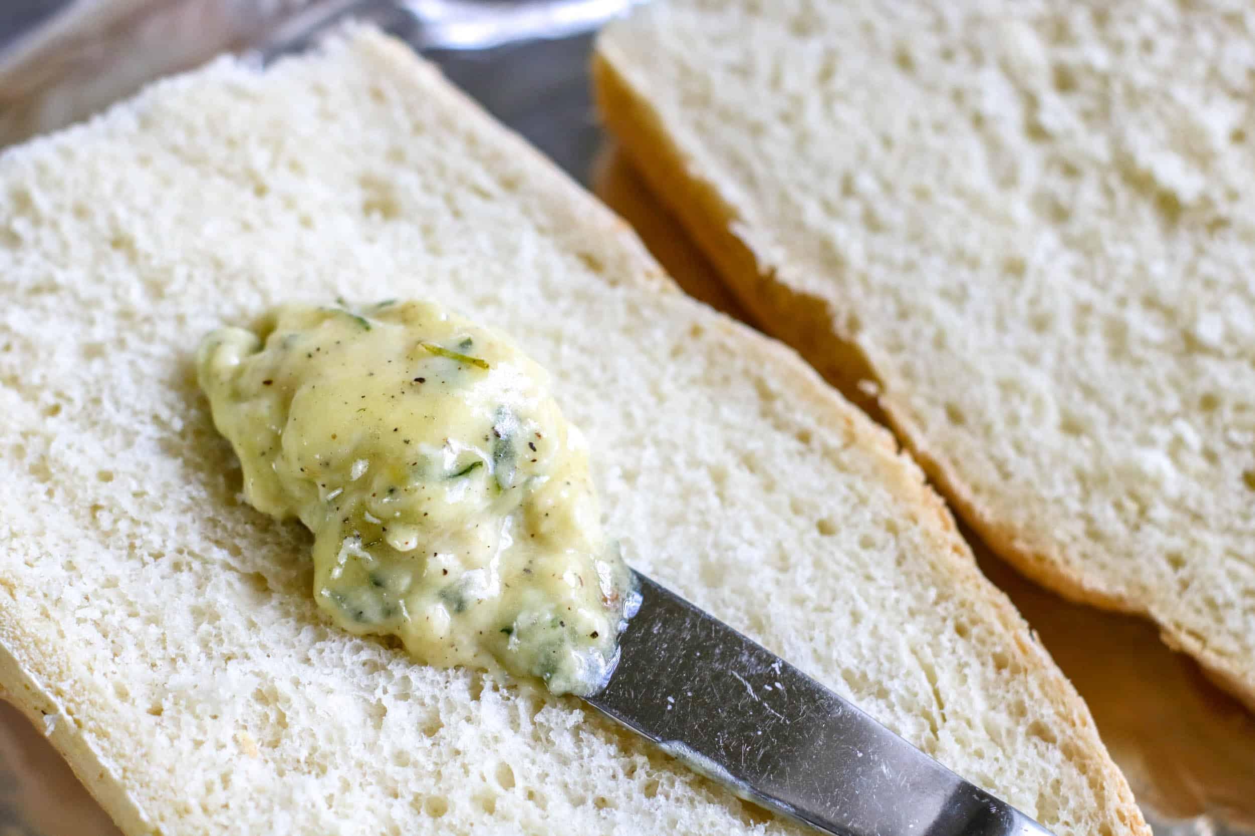 knife spreading butter