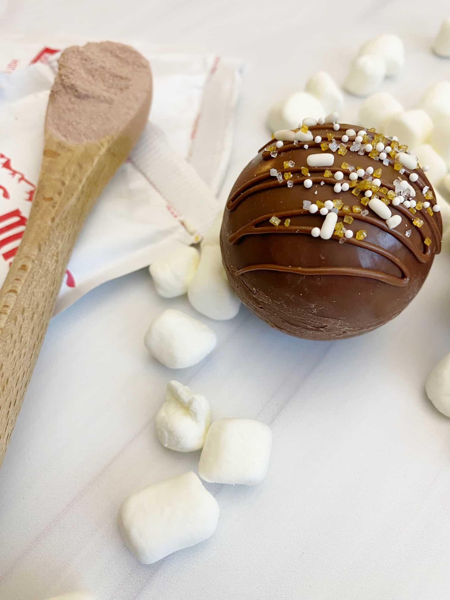 hot cocoa bombs marshmallow, hot cocoa mix