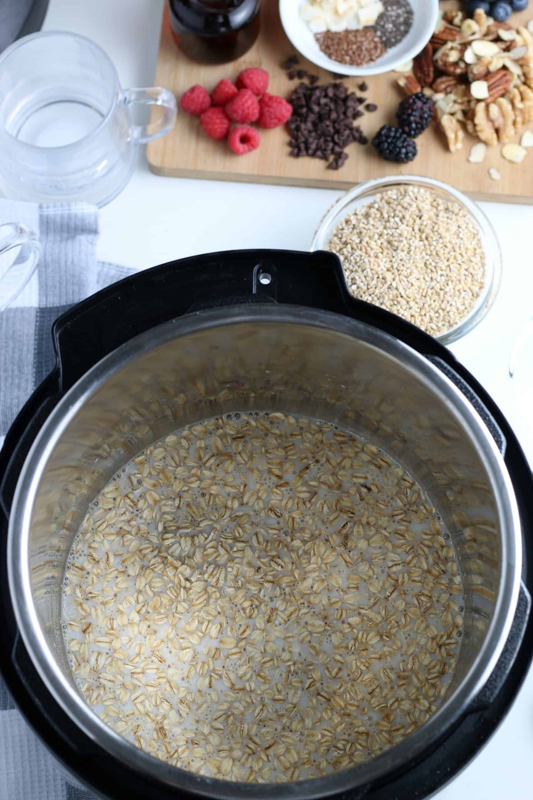 instant pot with oatmeal