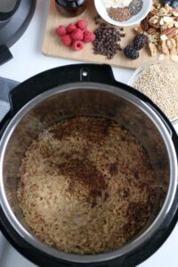 Instant pot cooked oatmeal