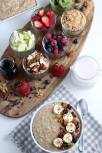 full top shot oatmeal and toppings