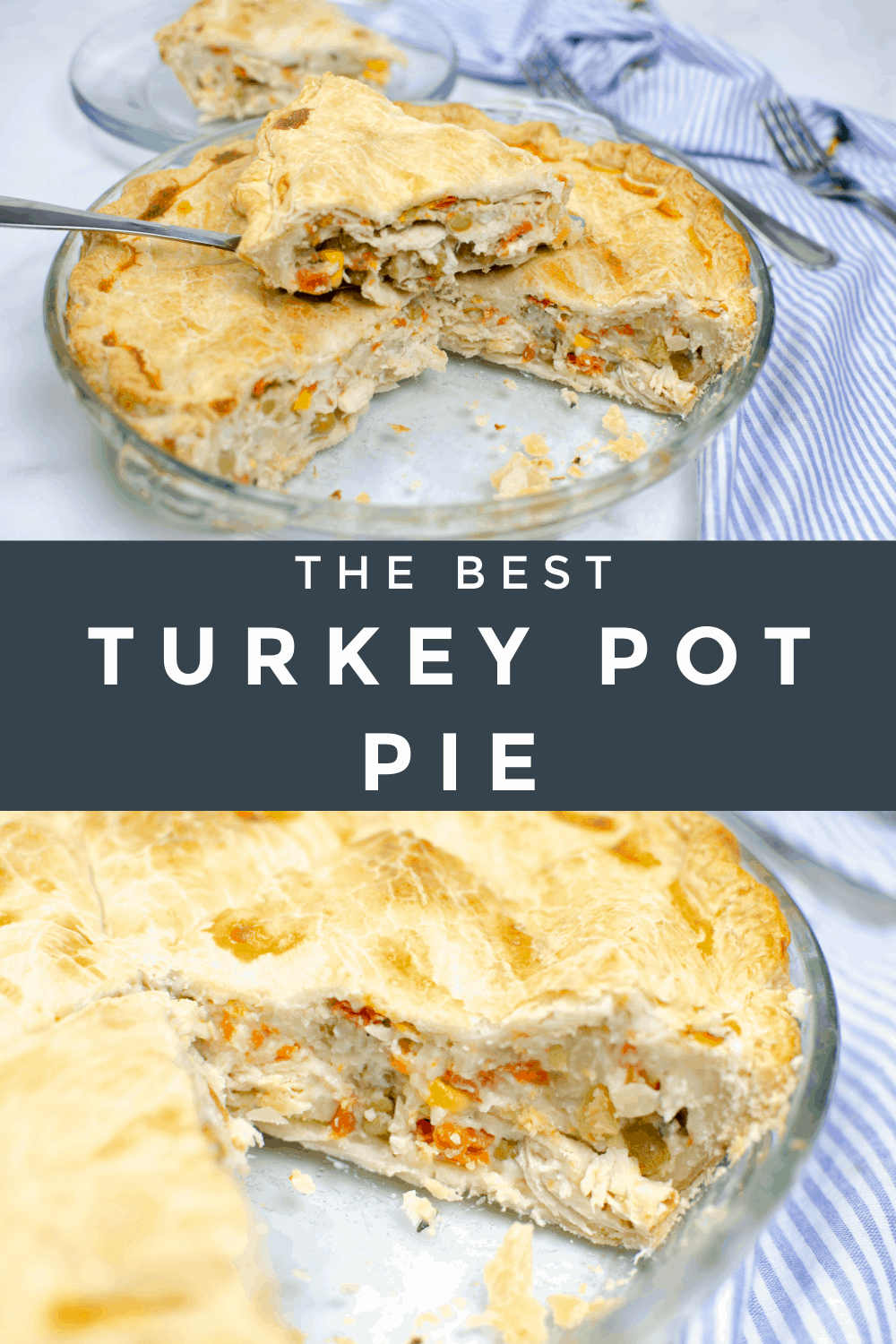 Dinner is quick and easy with this Turkey Pot Pie recipe. It is created with simple ingredients that many of us already have on hand! via @Mooreorlesscook