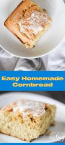 pin of homemade cornbread