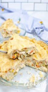 turkey pot pie sliced