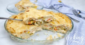 horizontal slice and pie