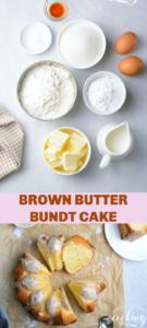 pin of brown butter bundt cake