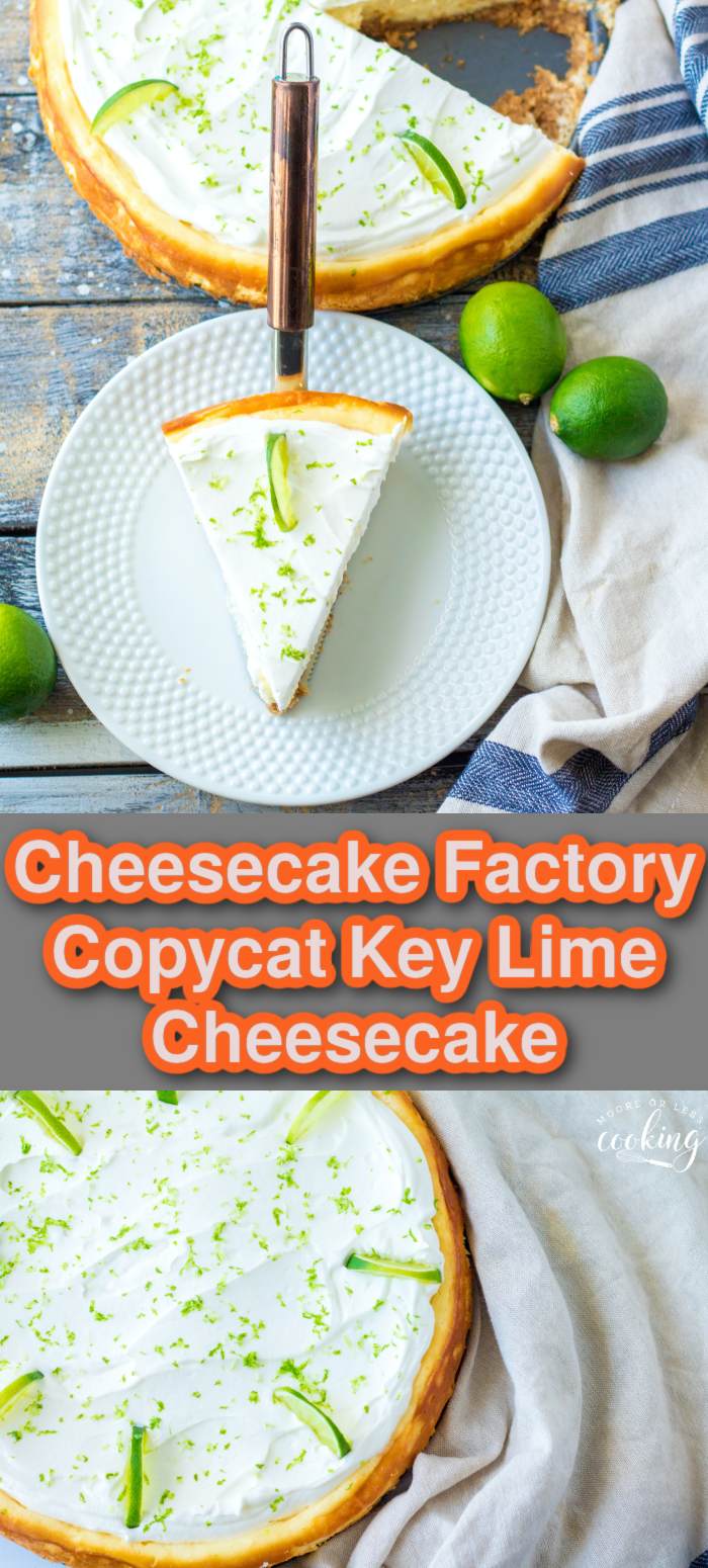 Rich and creamy with just the right amount of tanginess, this Key Lime Cheesecake is an easy homemade delight. It's a bright and refreshing sweet treat that's perfect for spring and summer. via @Mooreorlesscook