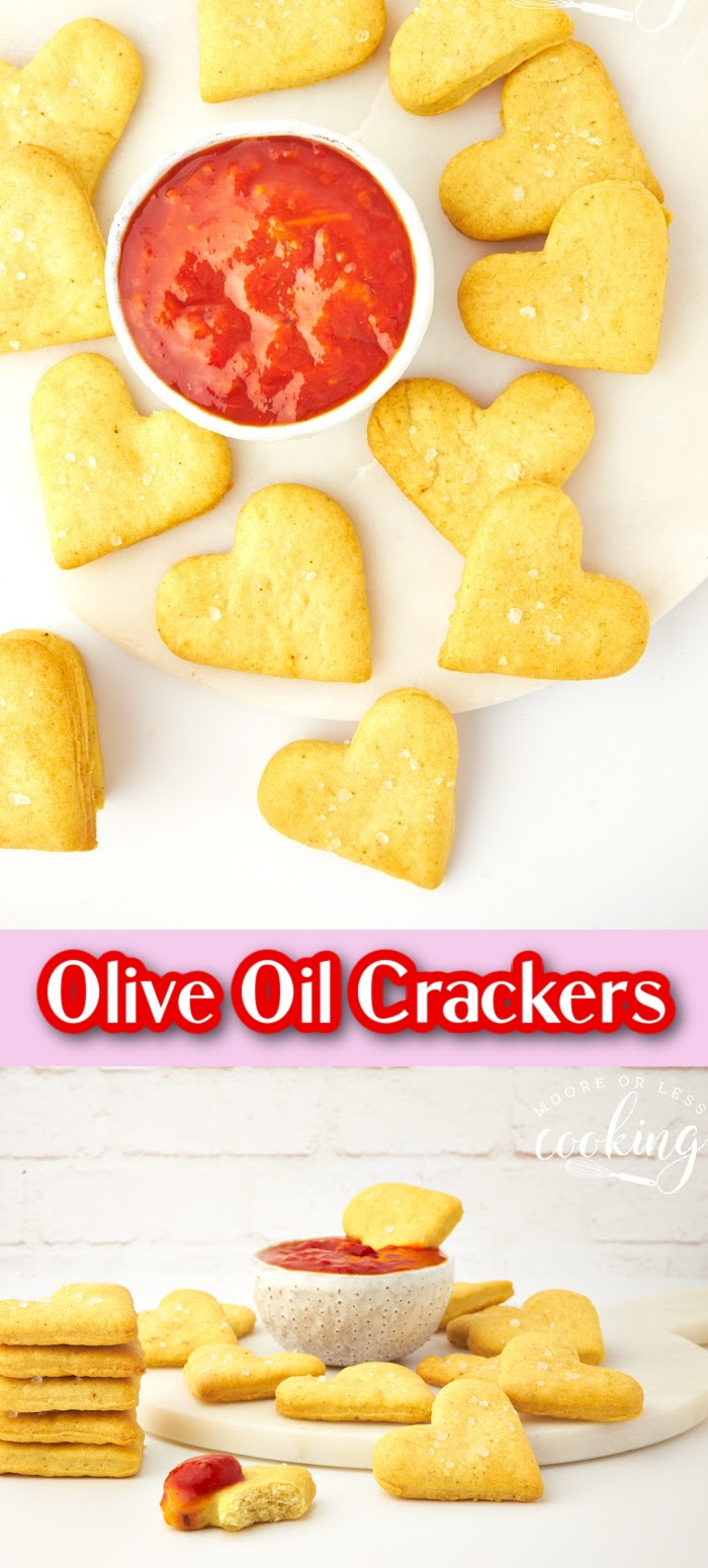 You'll love the simplicity of these delectable homemade olive oil and sea salt crackers. Irresistible as a snack and elegant enough for a fancy cheese board, these golden crispy olive oil and sea salt crackers practically make themselves. via @Mooreorlesscook